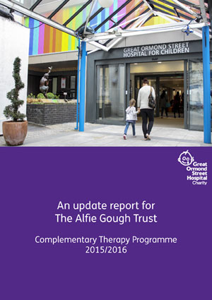 Alfie Gough Trust Complimentary Therapy Update Report